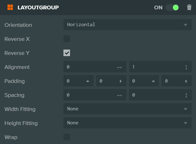LayoutGroup component